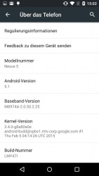 Android 5.1 LMY47I (Screenshot: ZDNet.de)