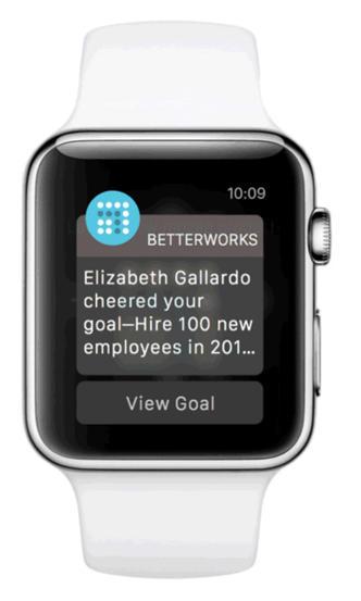 Die Apple Watch informiert: Ziel erreicht  (Bild: BetterWorks)