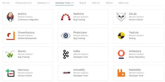 Entwicklerwerkzeuge im Google Cloud Launcher (Screenshot: ZDNet.de)