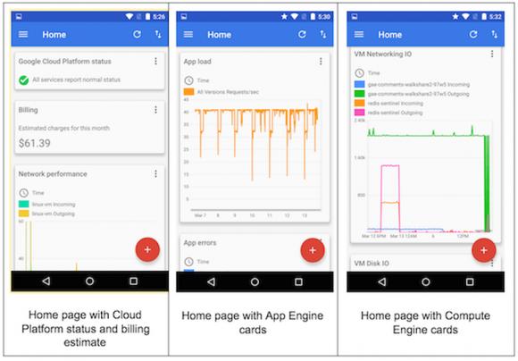 Google Coud Platform: Konsolen-App für Android (Screenshot: Google)