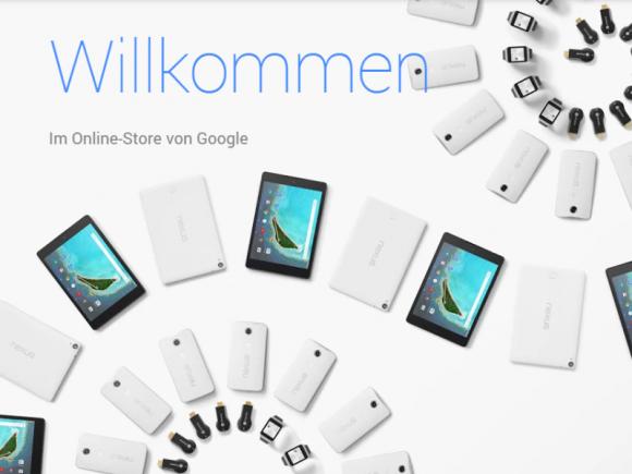 Google hat einen separaten Onlineshop für Hardware eröffnet (Screenshot: ZDNet.de).