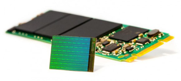 3D NAND flash chip from Intel and Micron (Picture: Intel).