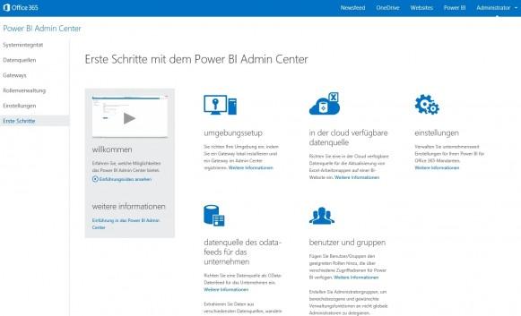 Office 365 Power BI lässt sich direkt in die Weboberfläche und Infrastruktur von Office 365 einbinden (Screenshot: Thomas Joos).