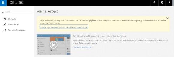 Mit Office Delve können Anwender effizienter in Teams zusammenarbeiten und erhalten eine Zusammenfassung Ihrer Daten (Screenshot: Thomas Joos).