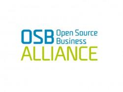 Die OSB Alliance stellt auf der CeBII 2015 in Halle 6 (Stand H16/410) im Open Source Park praktische und rechtliche Informationen zur Verfügung und Lösungen für den IT-Betrieb auf Basis von Open Source Software vor (Grafik: OSBA).