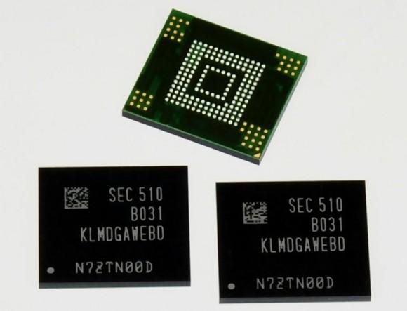 128 GByte Flashspeicher eMMC 5.0 (Bild: Samsung)
