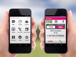 Die jüngste Ausgabe der Mobile Encryption App unterstüzt auch Dreierkonferenzen (Bild: Deutsche Telekom).