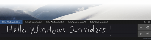 Windows 10 unterstützt nun kurze handschriftliche Eingaben mit Stift (Screenshot: Microsoft).