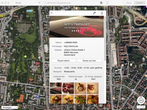 Apple Maps zeigt ab sofort auch Bewertungen von Triadvisor und Booking.com an (Screenshot: ZDNet.de)Tripadvisor