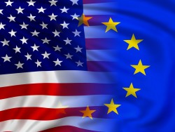 EU-USA-Flagge (Bild: Shutterstock, meshmerize)