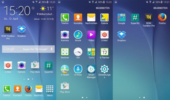 Android-Oberfläche mit möglichs wenigen Google-Apps (Screenshot: ZDNet.de)