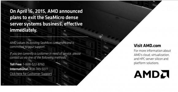 Das Ende von SeaMicro (Folie: AMD)