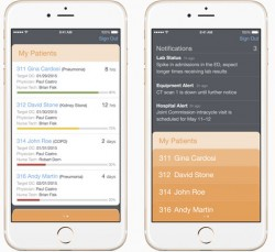 Die App Hospital RN soll helfen, in Krankenhäusern Pager durch iPhones zu ersetzen (Bild: Apple).