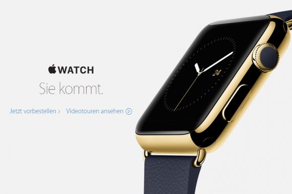 Apple macht auf seiner Website derzeit keine Angaben mehr zum voraussichtlichen Verkaufsstart der Apple Watch (Screenshot: ZDNet).
