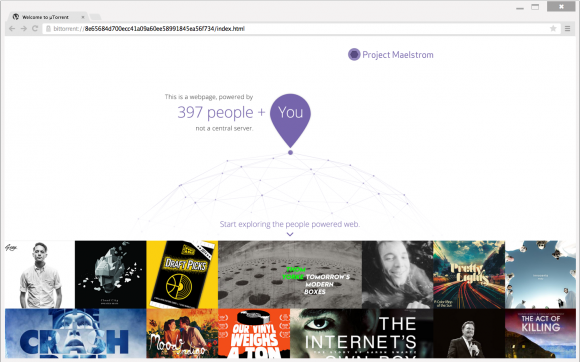 Browser Project Maelstrom (Bild: BitTorrent)