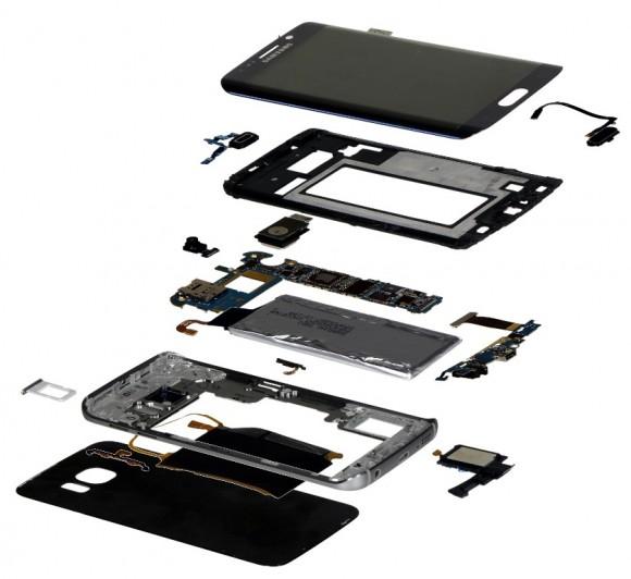 Das Display ist mit 85 Dollar das mit Abstand teuerste Bauteil des Galaxy S6 Edge (Bild: IHS).