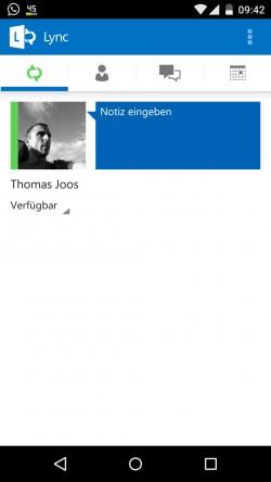 Mit dem Lync-Client für PCs und der App für Smartphones können Anwendern mit anderen Benutzern und externen Kontakten kommunizieren (Screenshot: Thomas Joos).