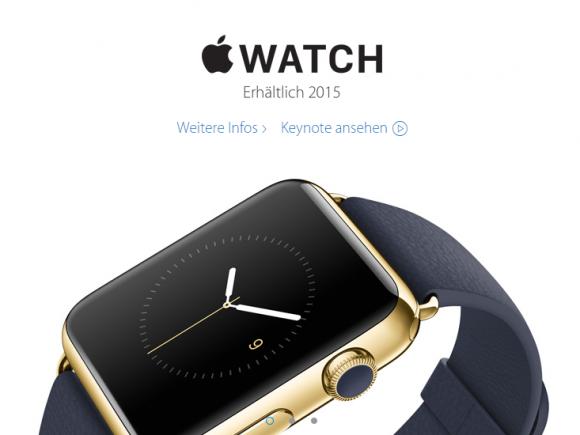 Laut Apple kommt die Apple Watch in der Schweiz noch in diesem Jahr in den Handel (Screenshot: ZDNet).