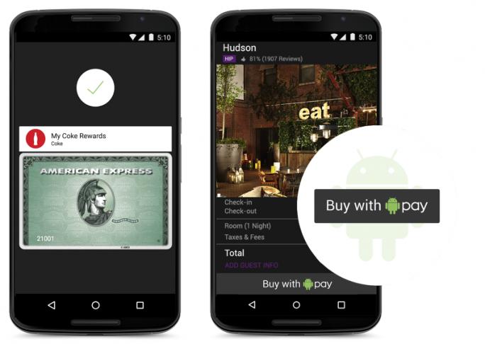 Android Pay unterstützt unter anderem Kredit- und Debitkarten von American Express (Bild: Google).