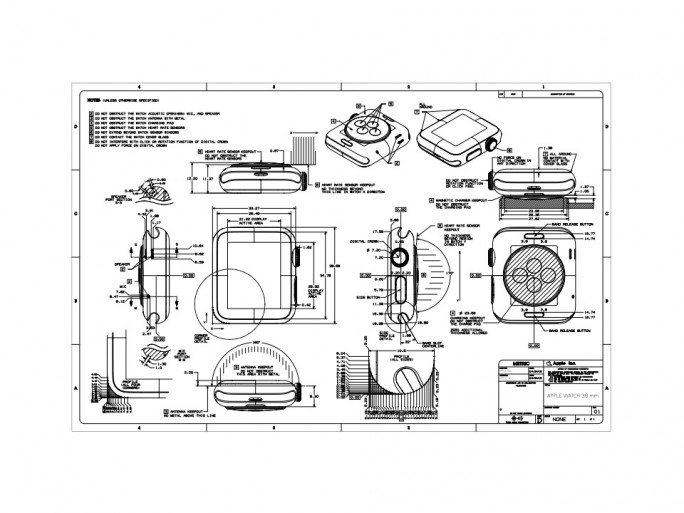 Apple-Watch-Details für Armbandentwickler (Grafik: Apple)