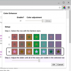 Farbkalibrierung in Chrome Color Enhancer (Screenshot: Google)