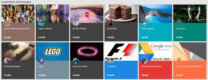 Empfohlene Sammlungen (Screenshot: ZDNet.de)