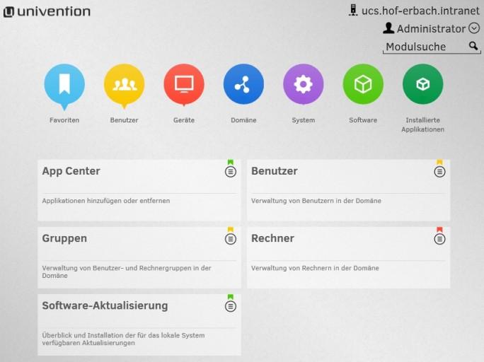 Mit Univention Corporate Server lassen sich Zimbra und Zarafa optimal betreiben und auch testen (Screenshot: Thomas Joos).