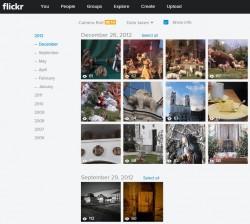 Neuer Flickr-Präsentationsmdus Camera Roll (Screenshot: ZDNet.de)