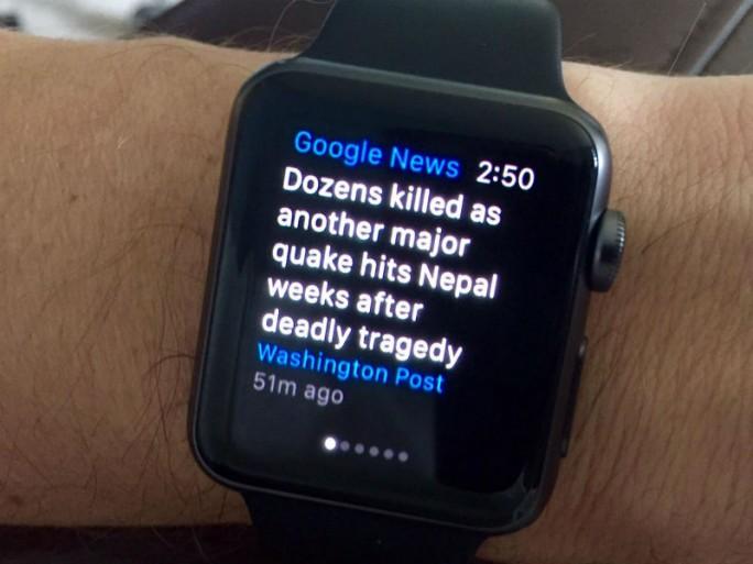 Google News & Wetter lässt sich ab sofort auch auf der Apple Watch nutzen (Bild: ZDNet.com]