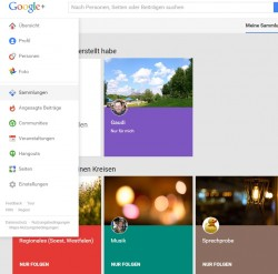 Sammlungen in Google+ (Screenshot: ZDNet.de)