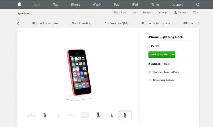 iPhone 5C mit Touch ID (Screenshot: TechWeekEurope)