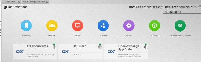 Open-Xchange-Appsuite lässt sich relativ leicht in Univention Corporate Server integrieren. Das erleichtert die Integration im Netzwerk (Screenshot: Thomas Joos).