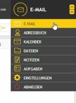 In der Weboberfläche stehen rechts oben alle Funktionen von Kolab zur Verfügung (Screenshot: Thomas Joos).