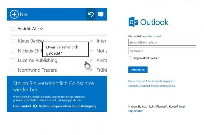 Bei der Betrugsmasche landen Nutzer zwar auf der echten Microsoft-Site live.com, werden aber von einer nicht dazugehörigen Anwendung nach Anmeldedaten gefragt (Screenshot: ITespresso).