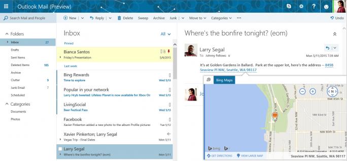 Das neue Outlook.com (Bild: Microsoft)