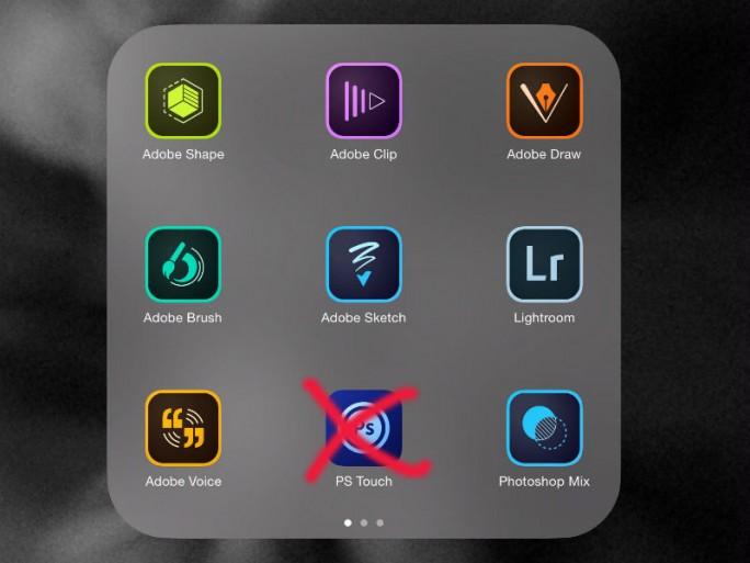 Adobe stellt die Weiterentwicklung von Photoshop Touch ein (Screenshot: Lori Grunin/CNET).