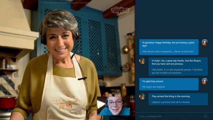 Skype Translator kann Videogespräche in Echtzeit zwischen Englisch und Spanisch übersetzen (Bild: Microsoft).