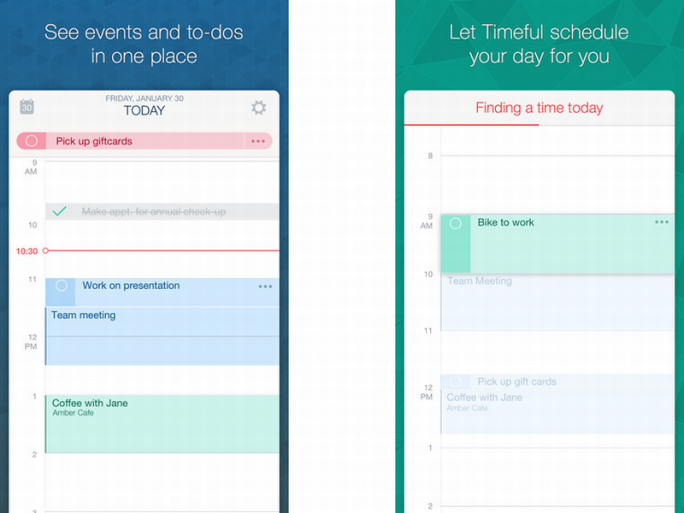 Timeful macht selbständig Vorschläge für Termine und Aktivitäten (Bild: Timeful).