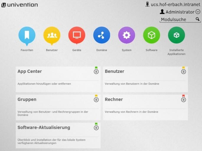 Zusammen mit Univention Corporate Server, können Unternehmen die OX App Suite lokal als mächtige Serverlösung betreiben und per Webportal betreiben und erweitern (Screenshot: Thomas Joos).
