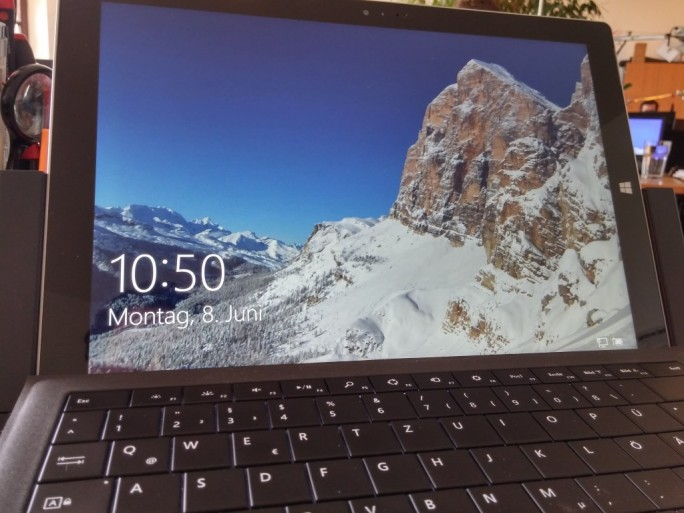 Surface Pro 3: Windows10 (Bild: ZDNet.de)