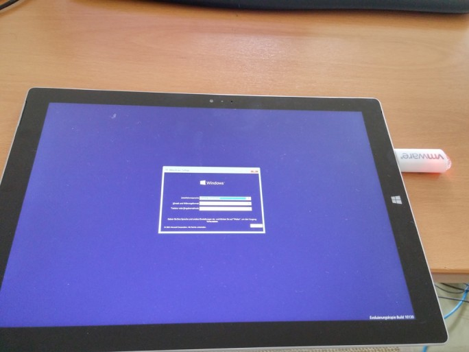 Surface Pro 3: Installation von Windows 10 mit USB-Stick (Bild: ZDNet.de)
