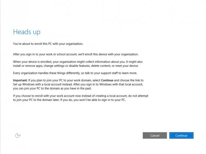 Surface Pro 3 : Anmeldung an Domäne (Screenshot: ZDNet.de)