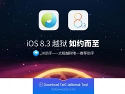 TaiG-Jailbreak-iOS83 (Screenshot: ZDNet.de)