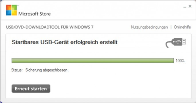 USB-Download-Tool (Screenshot: ZDNet.de)