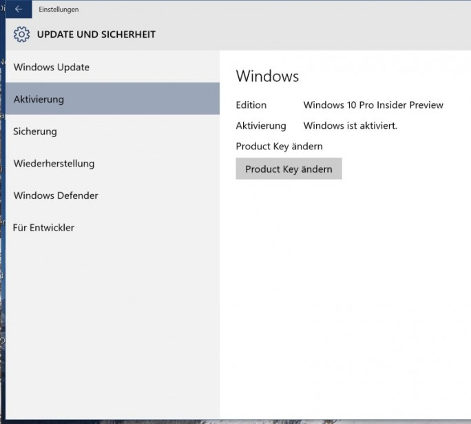 Windows-10-Aktivierung (Screenshot: ZDNet.de)