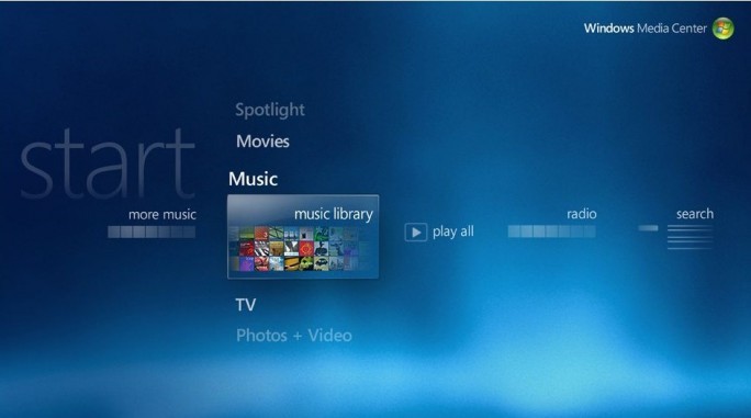 Unter Windows 10 nicht mehr nutzbar: Windows Media Center (Bild: Microsoft)