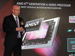 AMD-Produktmanager Kevin Lensing hat auf der Computex in Taipeh die sechste Generation der A-Serie-APUs vorgestellt (Bild: ZDNet.com).