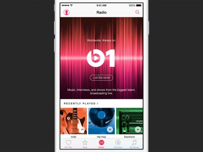 Apple Music beinhaltet auch den Live-Radiosender Beats 1 (Bild: Apple).