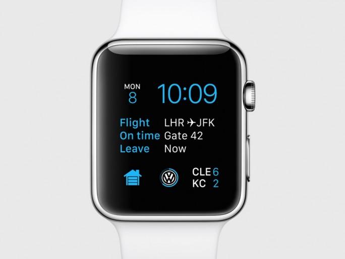 Die Apple Watch zeigt künftig Informationen von Drittanbieter-Apps auf dem Ziffernblatt an (Bild: Apple).