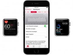 Herzfrequenzmessung mit der Apple Watch (Bild: Apple)
